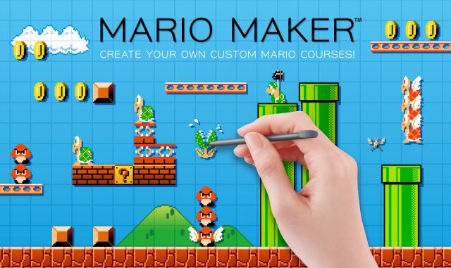 Super Mario Maker, la machine à faire des jeux Mario. Sortie le 11 Septembre 2015